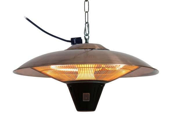 Fire Sense Gunnison Brushed Copper Colored Hanging Halogen Patio Heater