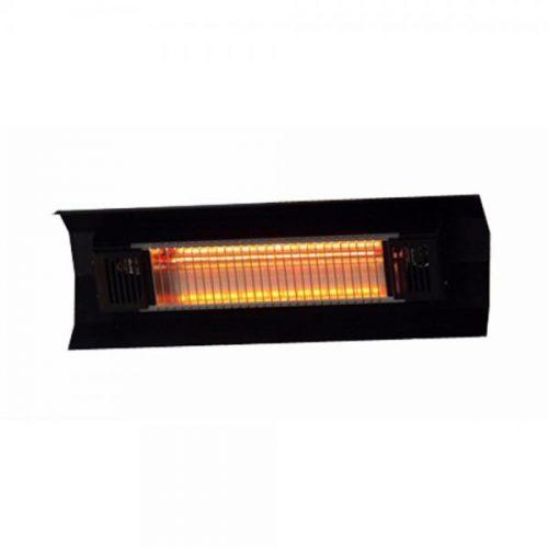 Fire Sense WT Living 1500 Watt Infrared Wall-Mounted Black Steel Patio Heater