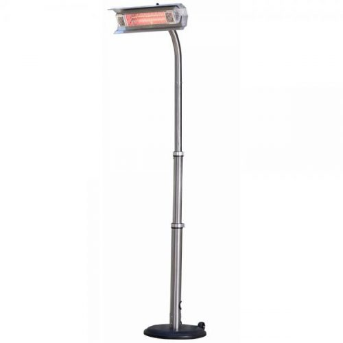 Fire Sense WT Living Mojave Sun 1500 Watt Infrared Patio Heater - Telecoping Pole-Mounted - SS Frame - w:wheels