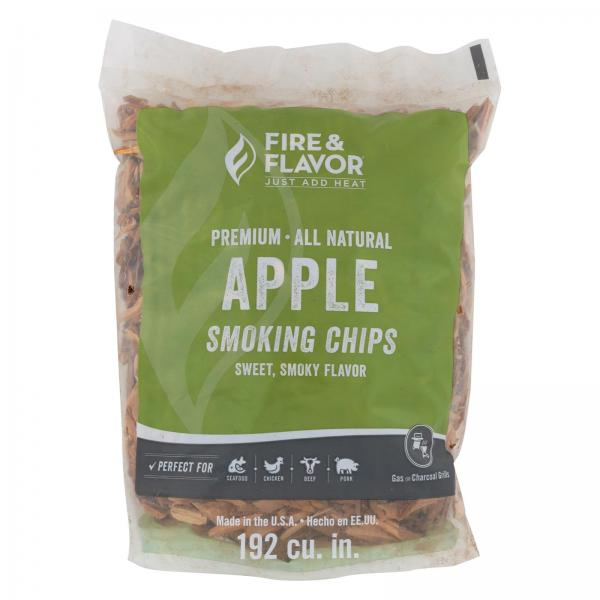 Fire and Flavor Apple Wood Chips - Case of 6 - 2 lb. Bags