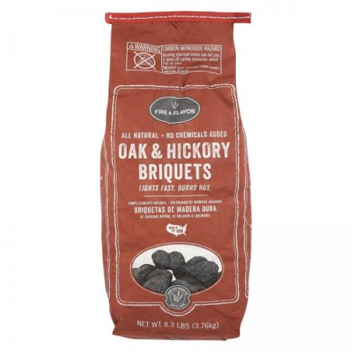 Fire and Flavor Oak & Hickory Charcoal Briquets