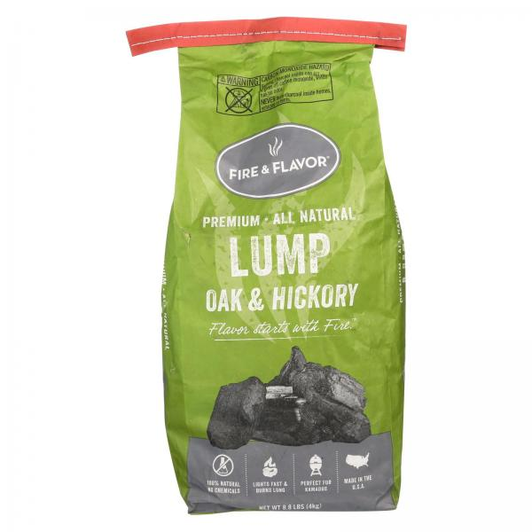 Fire and Flavor Oak & Hickory Lump Charcoal